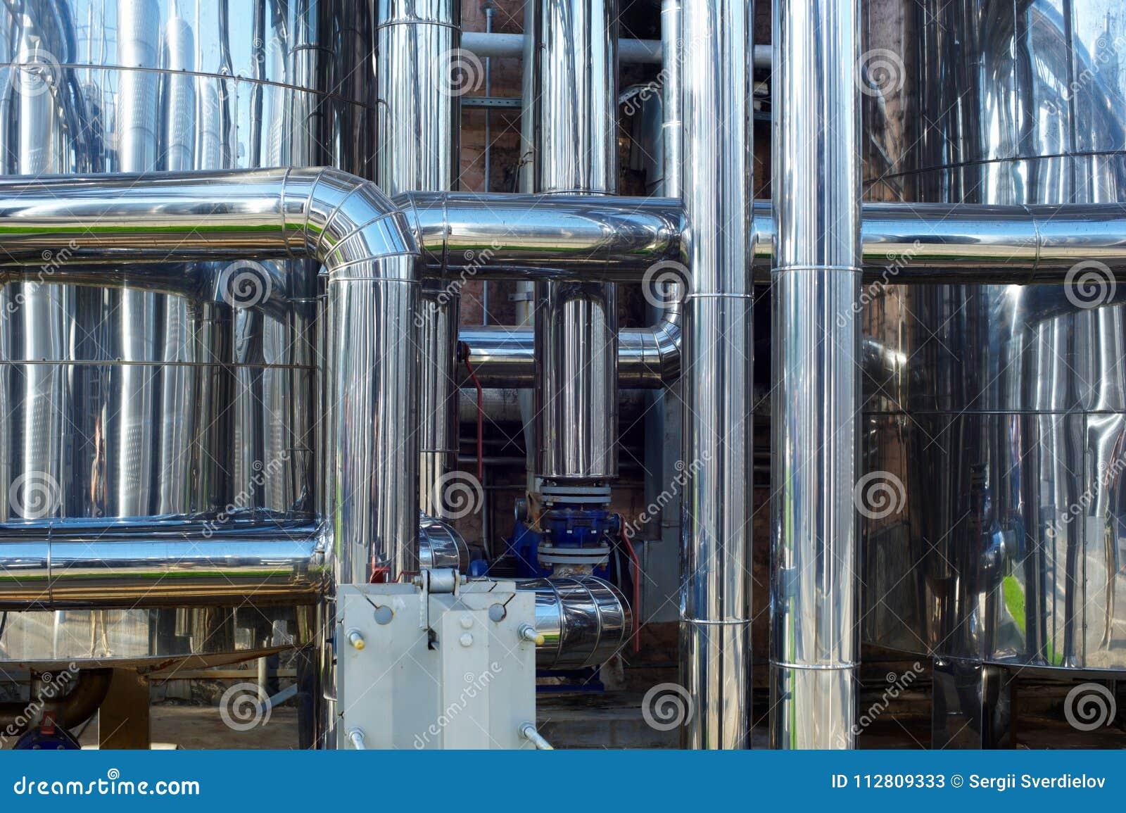Tuyaux d acier inoxydables brillants, réservoirs pour l industrie alimentaire