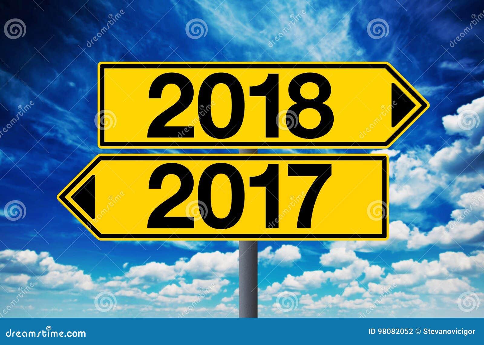Tvärgatatecken 2017 och 2018