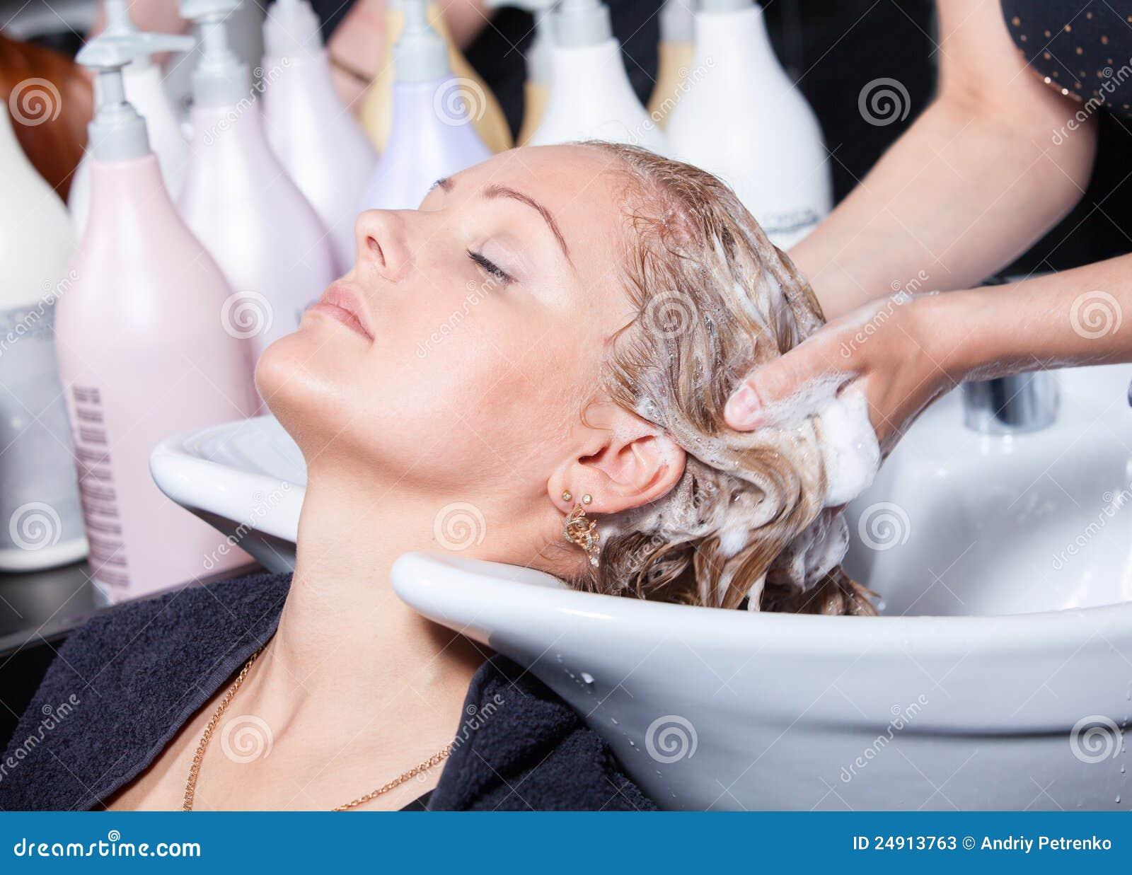 Tvätt för hårfriseringsalong