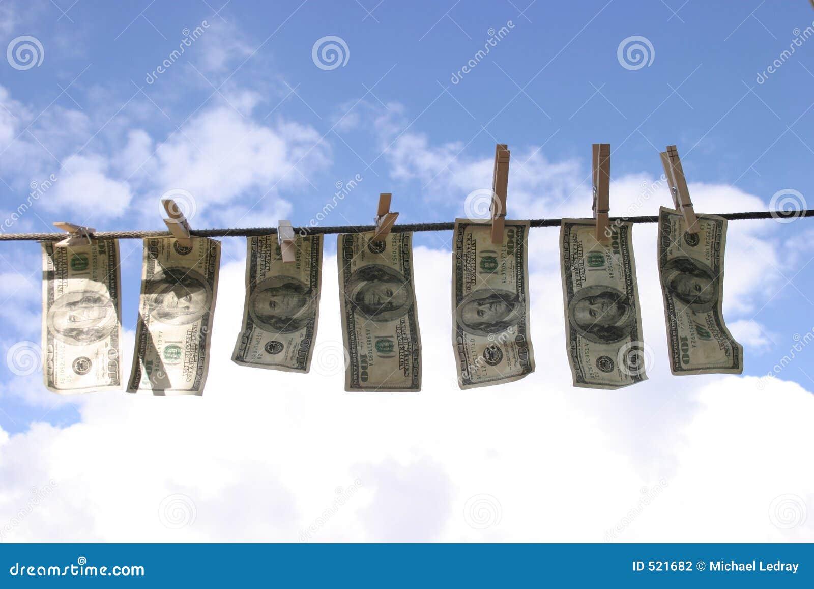 Tvättade pengar