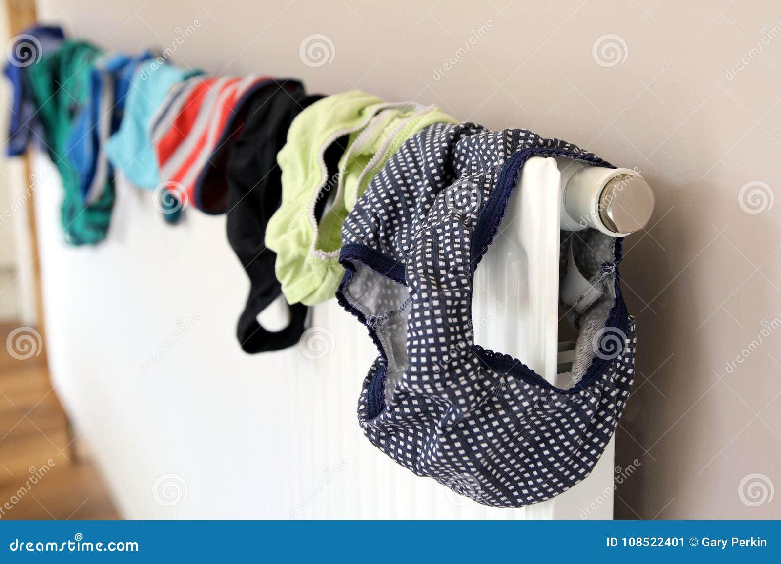 Tvätteri- eller tvagninguttorkning på ett inhemskt element