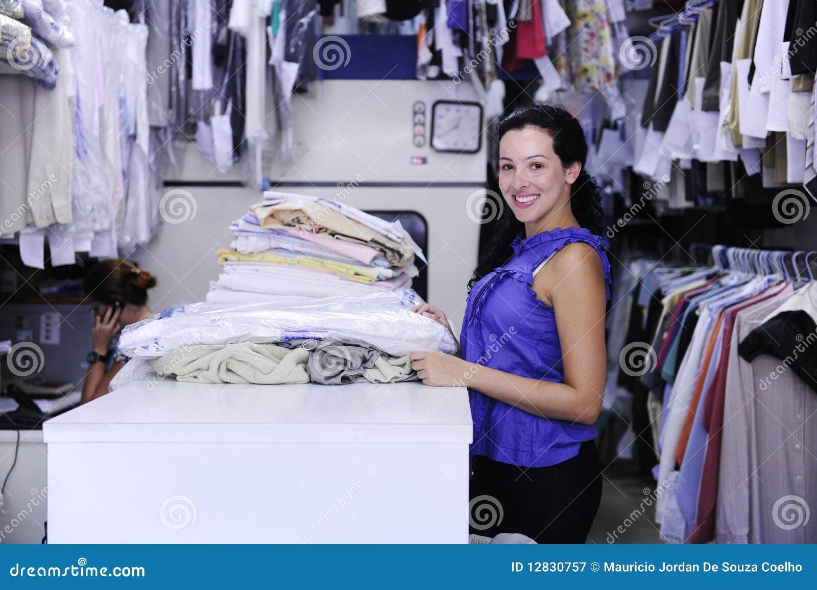 Tvätterikvinnaworking