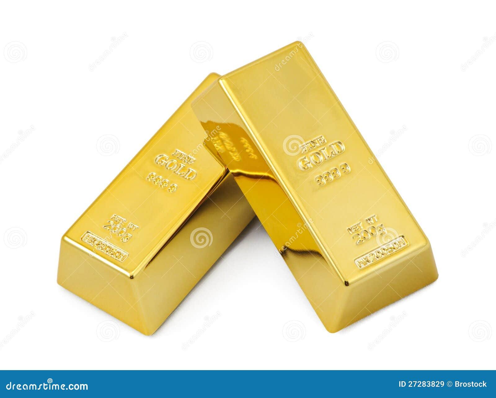 Två guldstänger