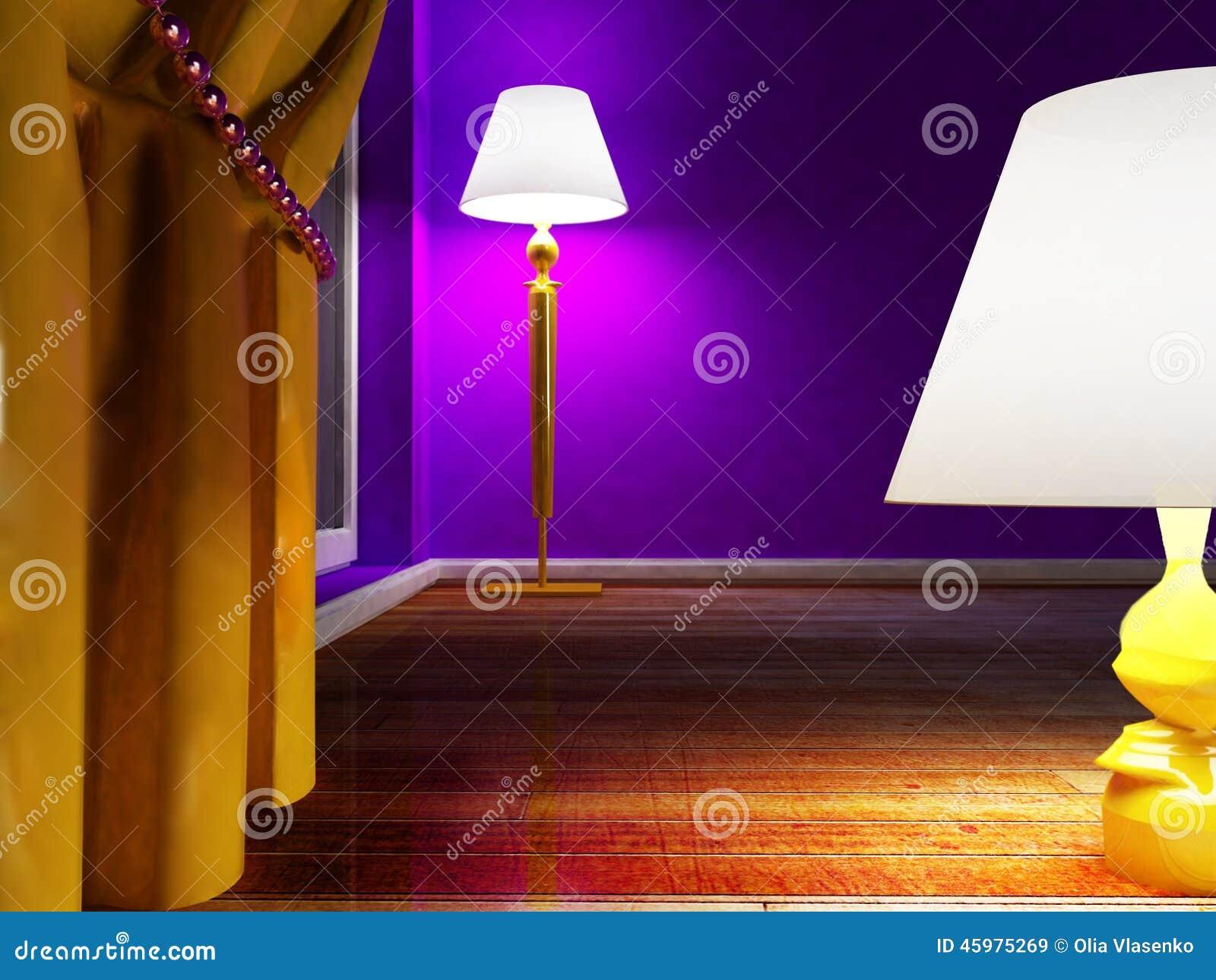 Två lampor på golvet