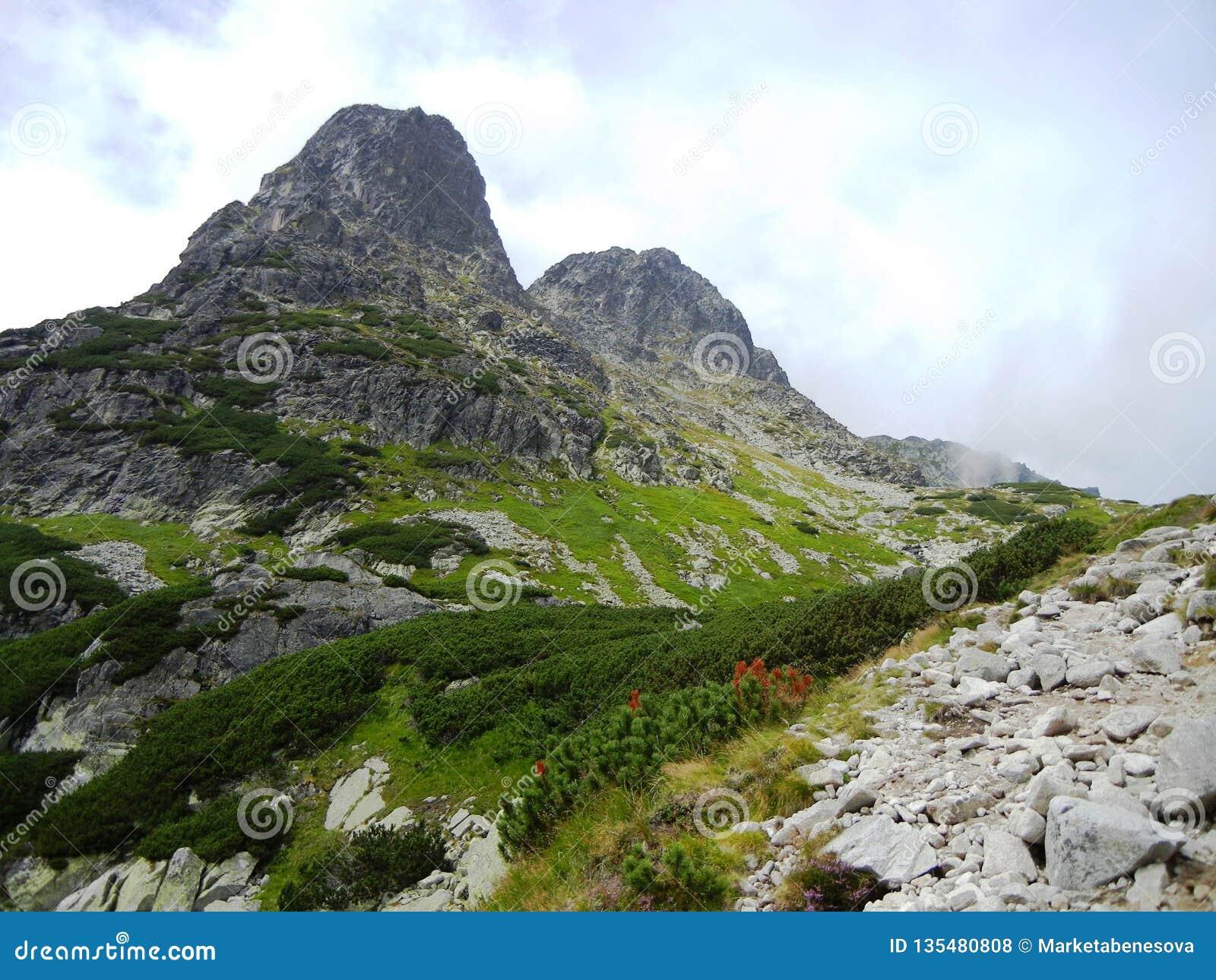 Två runda bergmaxima i Slovakien
