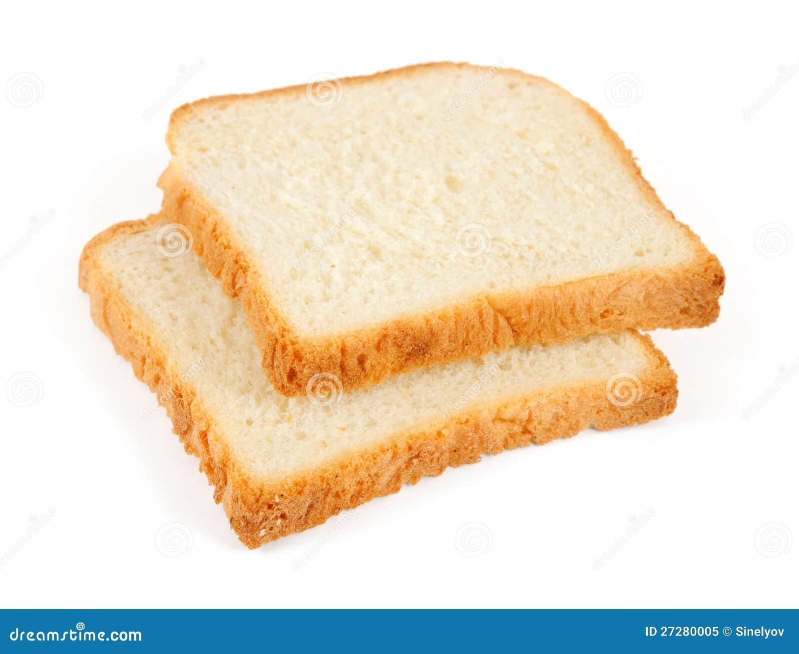 Två skivor av wheaten rostat brödbröd