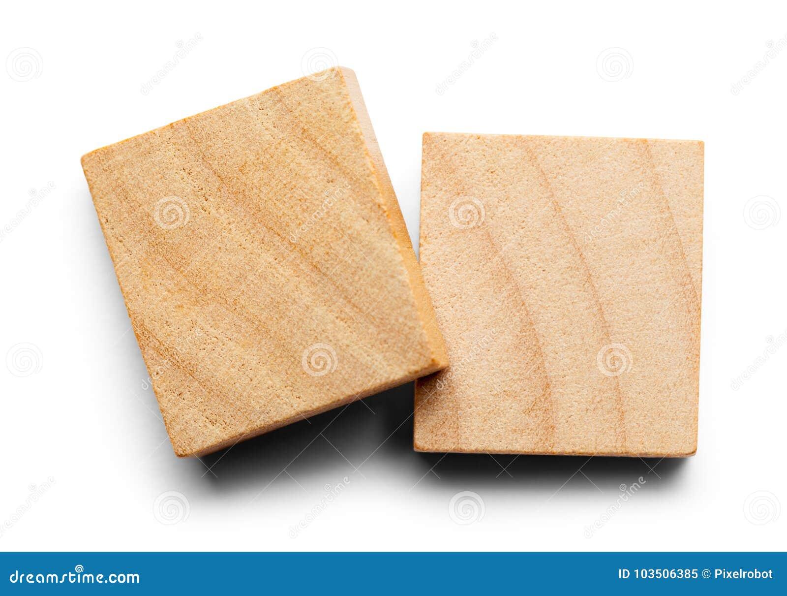 Två Wood tegelplattor