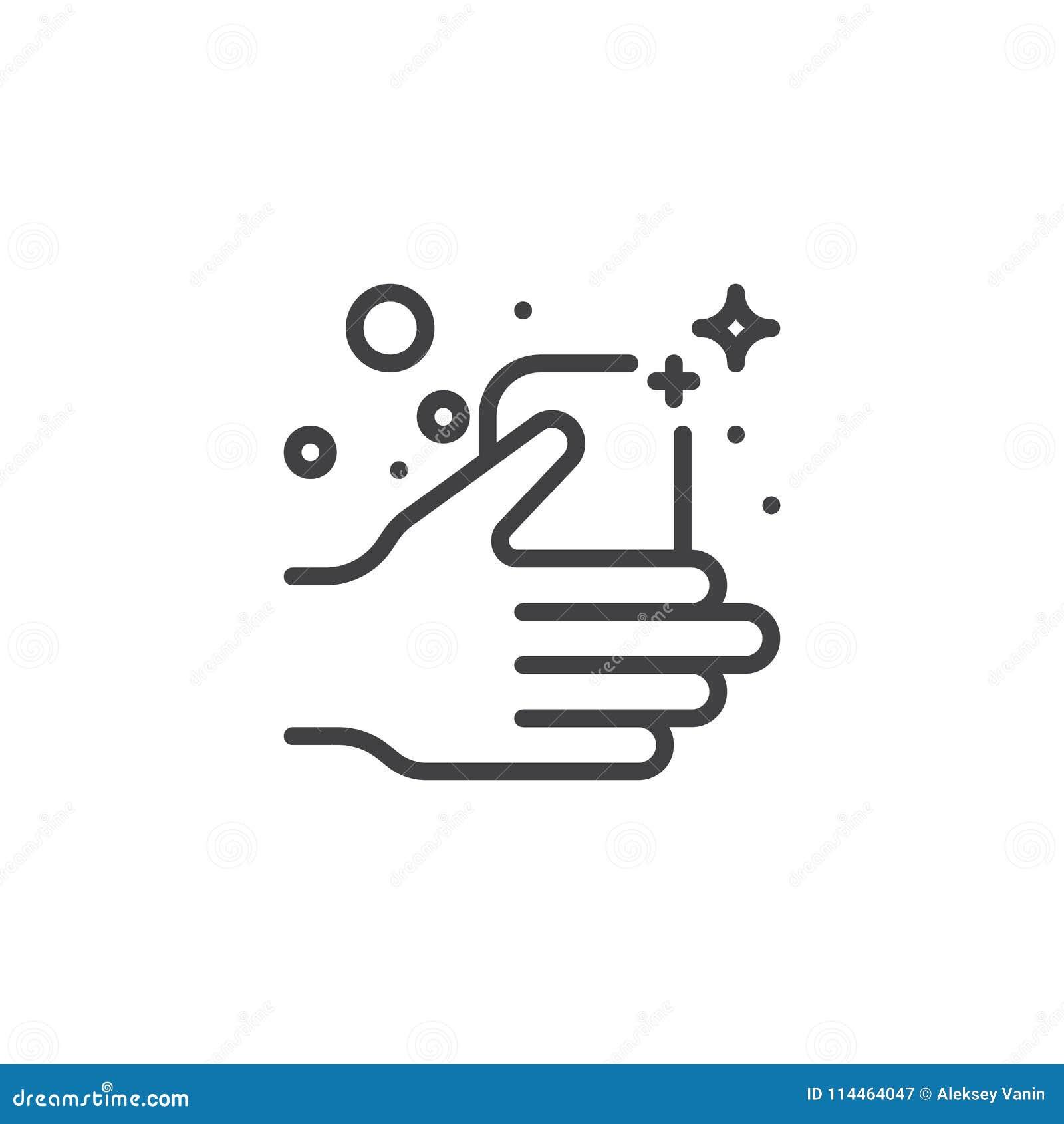 Tvålstång i en handöversiktssymbol