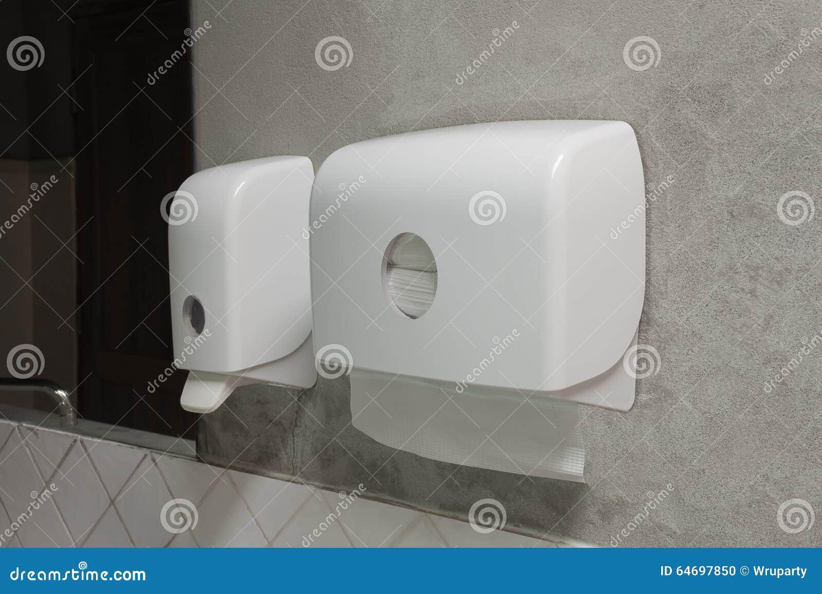 Tvålutmatare och pappersutmatare