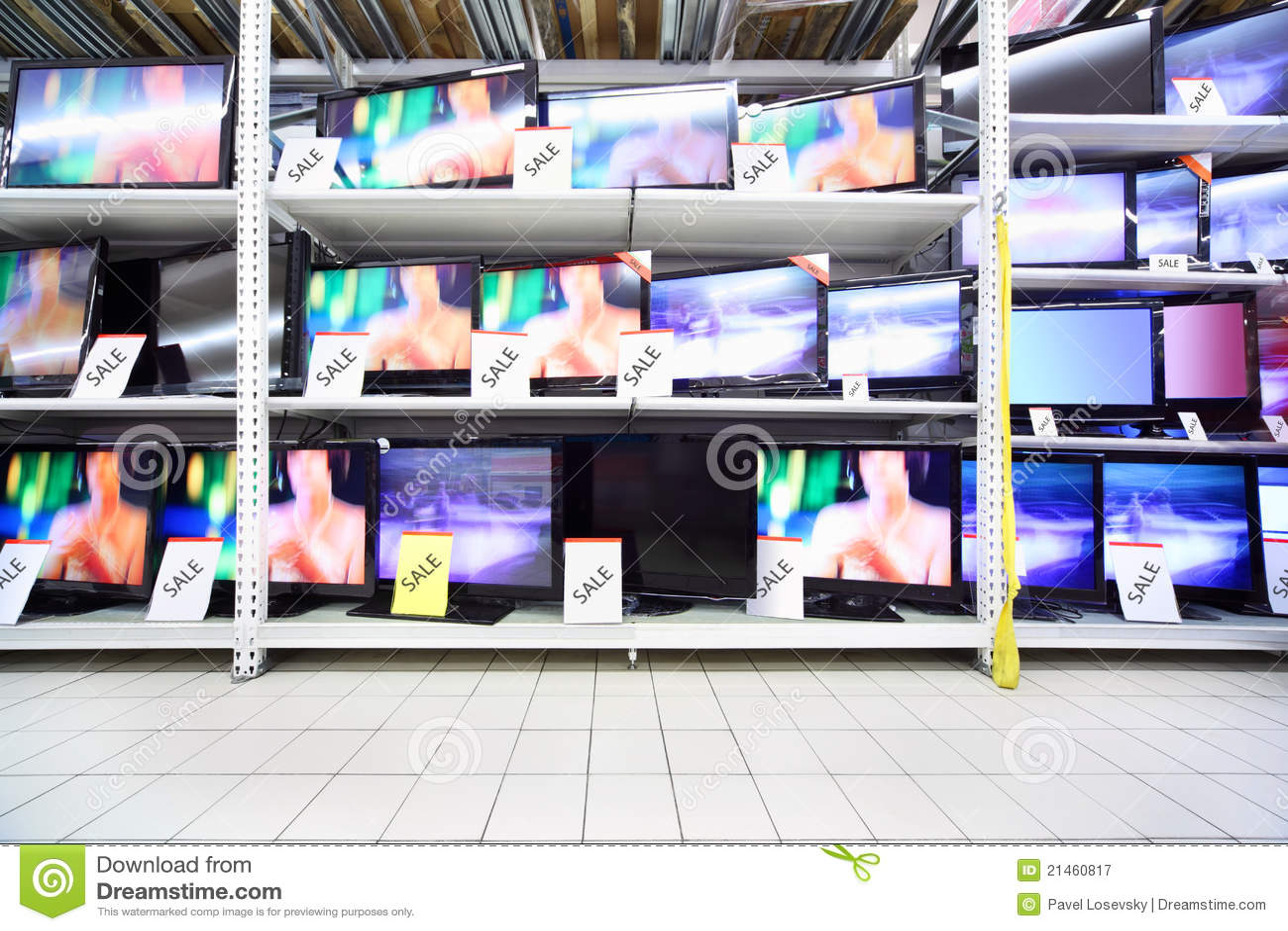 TV στάσεων καταστημάτων πλάσ&