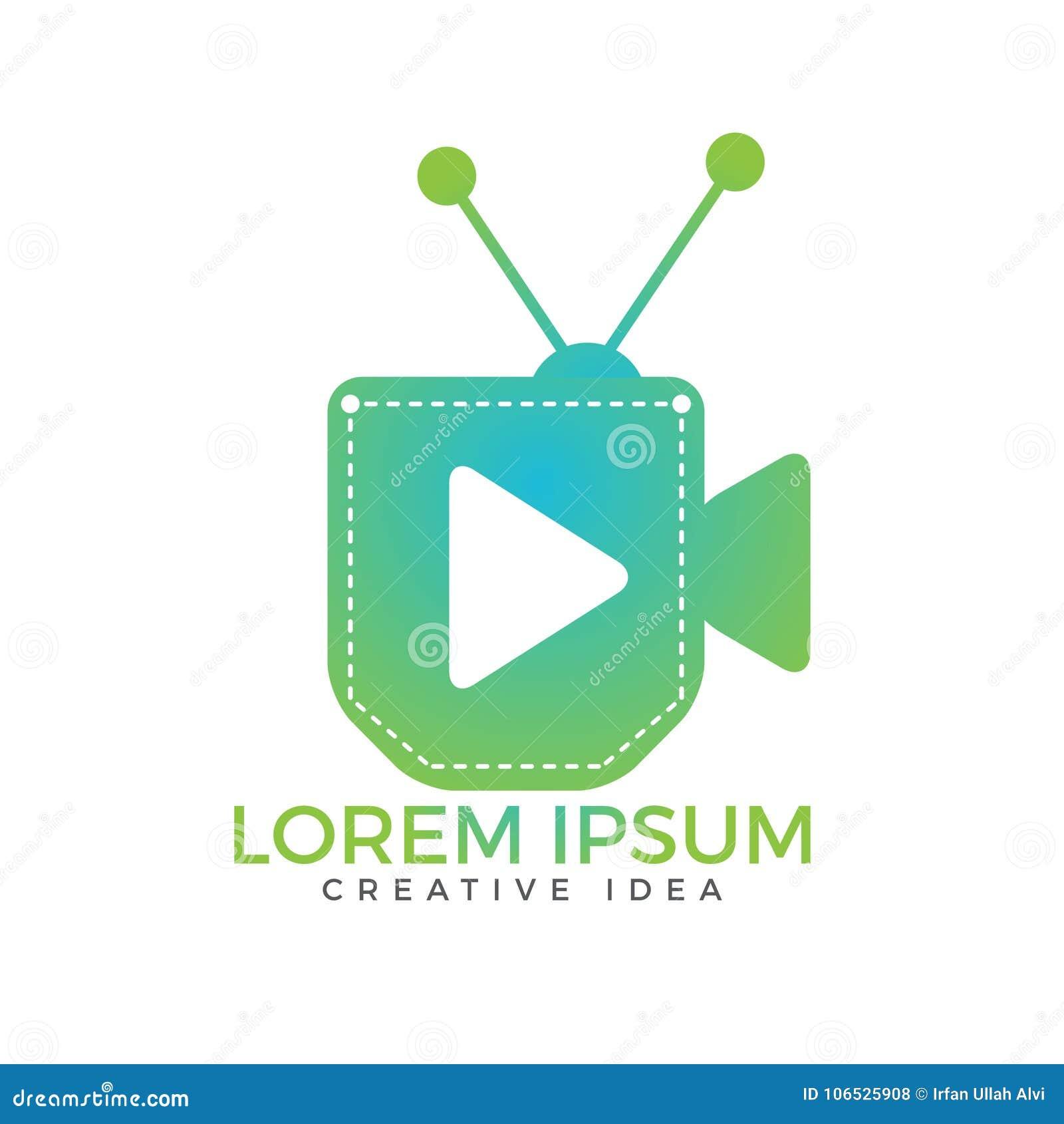 Pocket tv vector design  stock vector  Illustration of screen