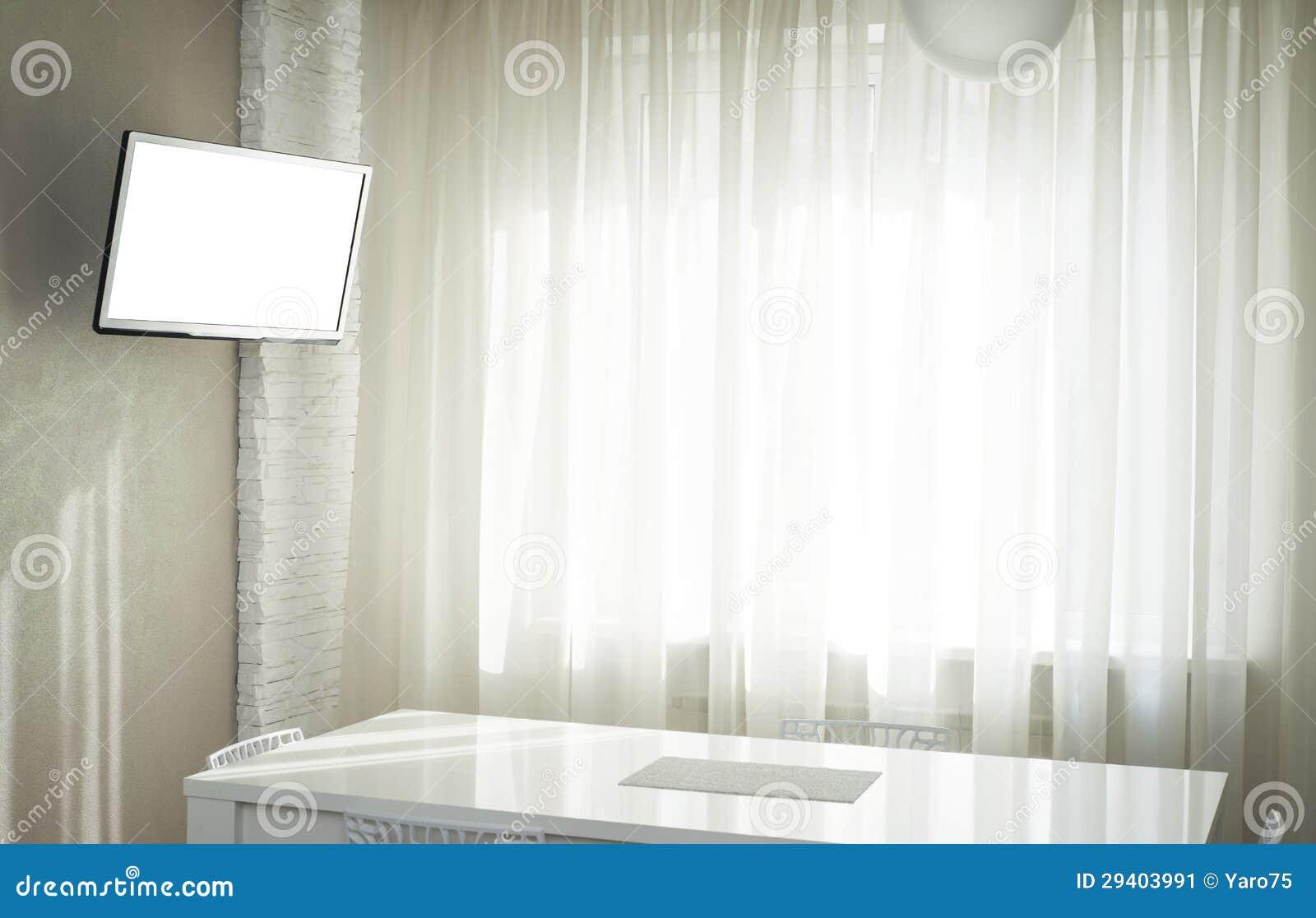 TV in cucina immagine stock. Immagine di cucina, appartamento - 29403991