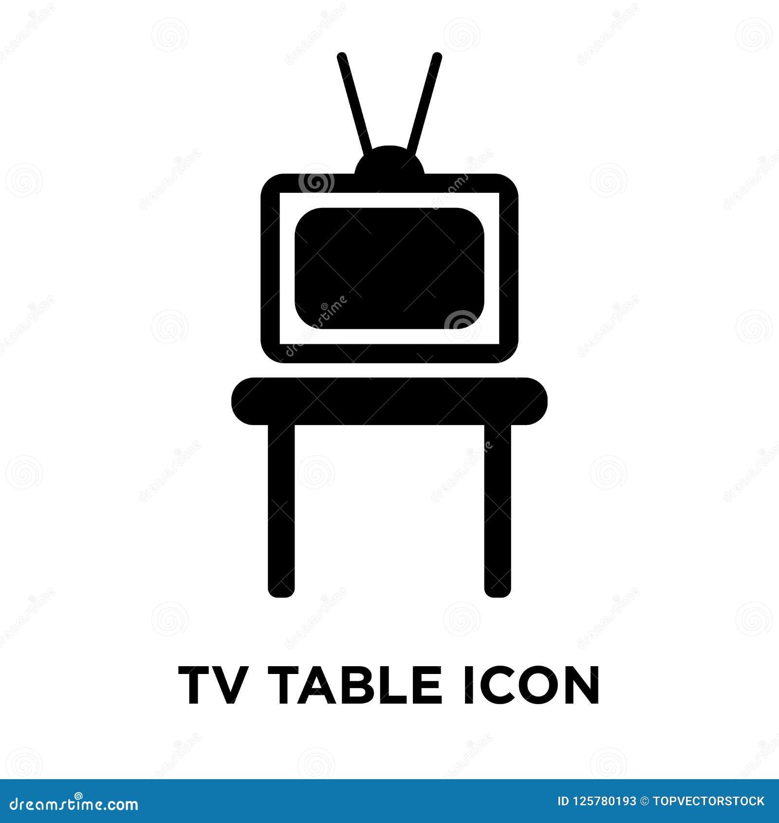 TV-de vector van het lijstpictogram op witte achtergrond, embleemconcept wordt geïsoleerd dat