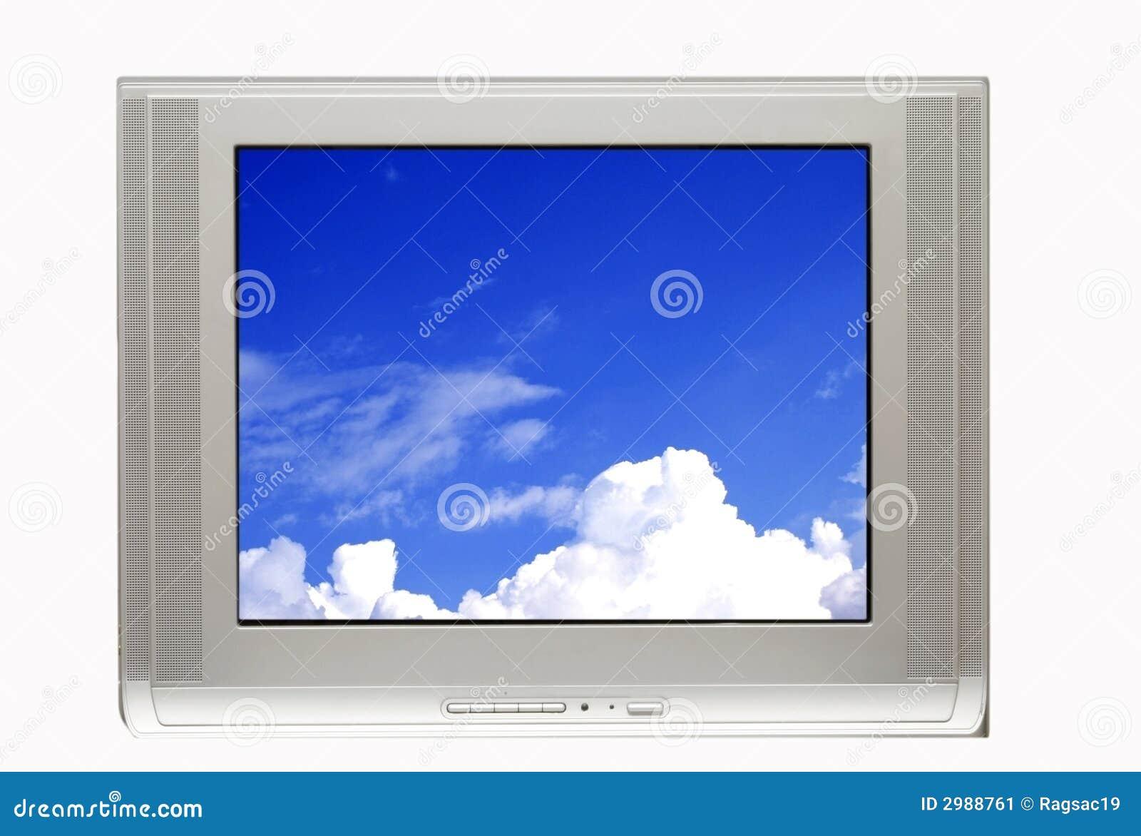 TV en Blauwe hemel