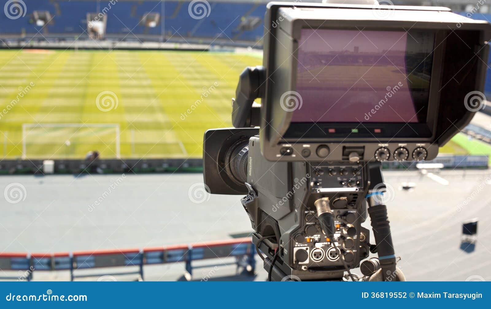 TV en el fútbol.