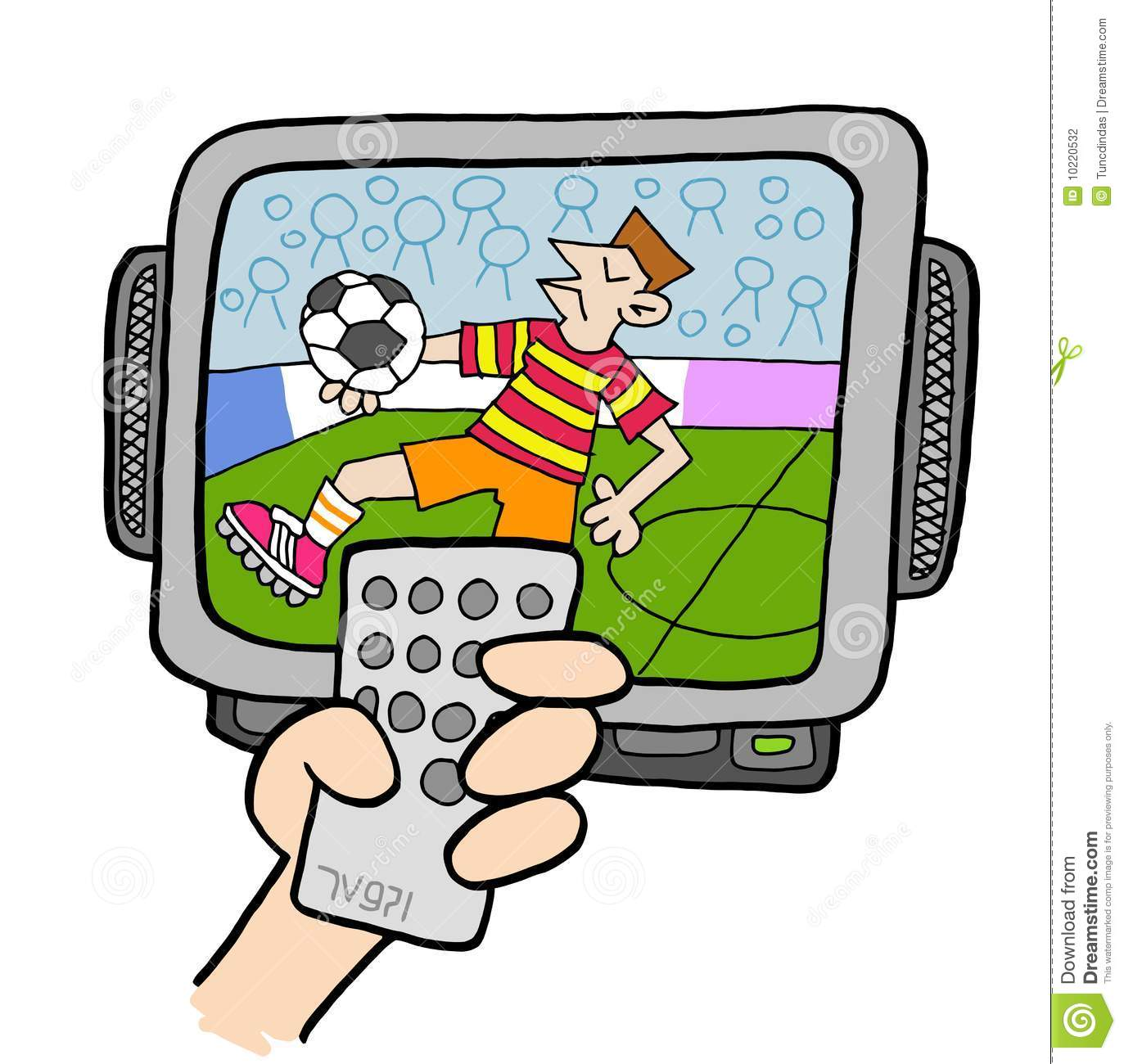 tv fanatic 4 stock vector illustration of remote  active girl soccer clipart black and white soccer girl clipart
