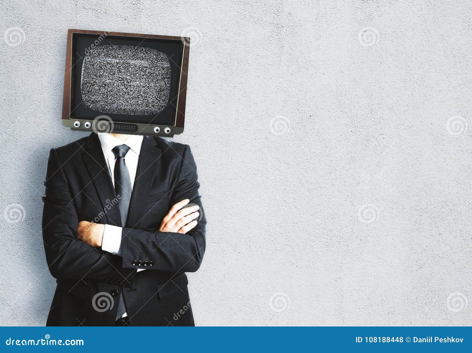 TV headed man