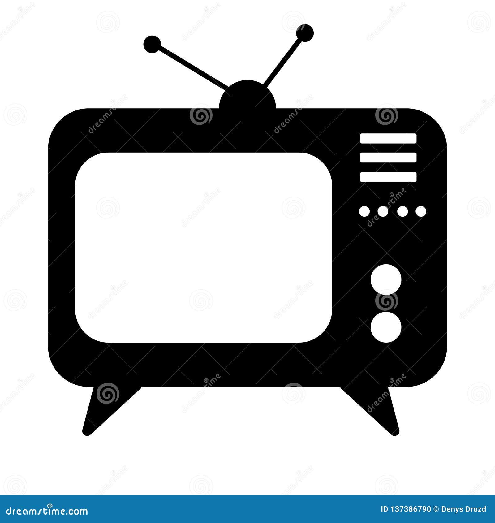 TV Icon, Television Vector Illustration Icon Stock Vector ...