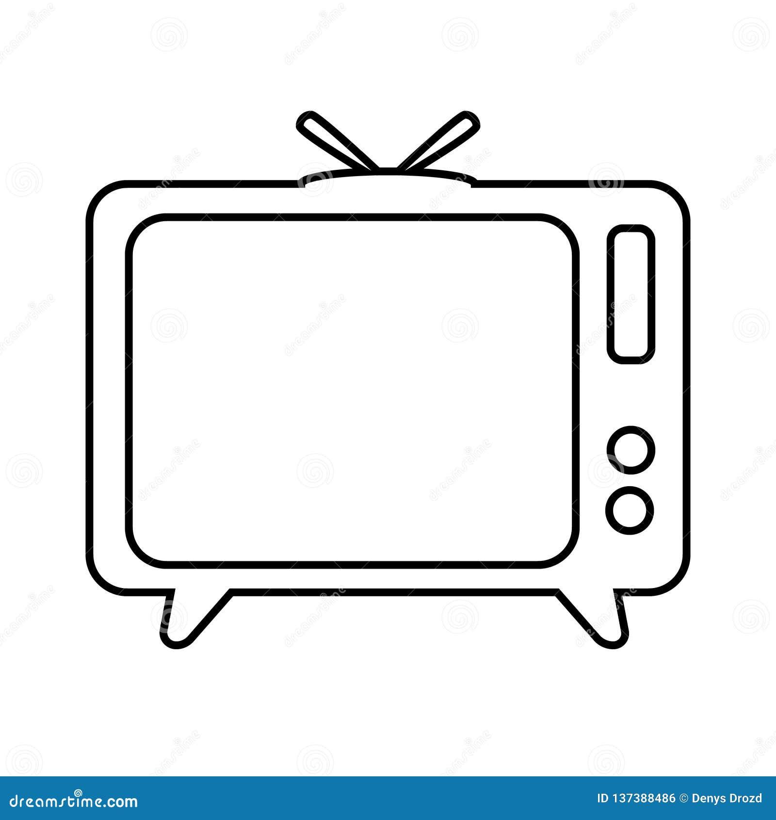 TV Icon, Television Vector Illustration Icon Stock Vector