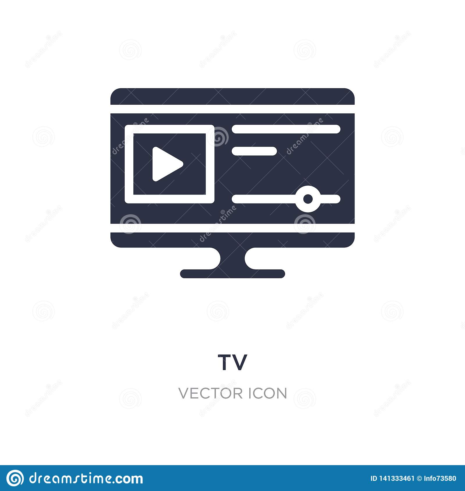 tv icon on white background. Simple element illustration from Blogger and influencer concept