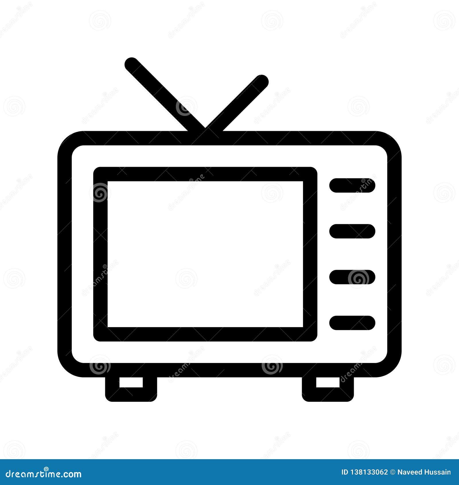 TV line vector icon stock vector  Illustration of concept - 138133062