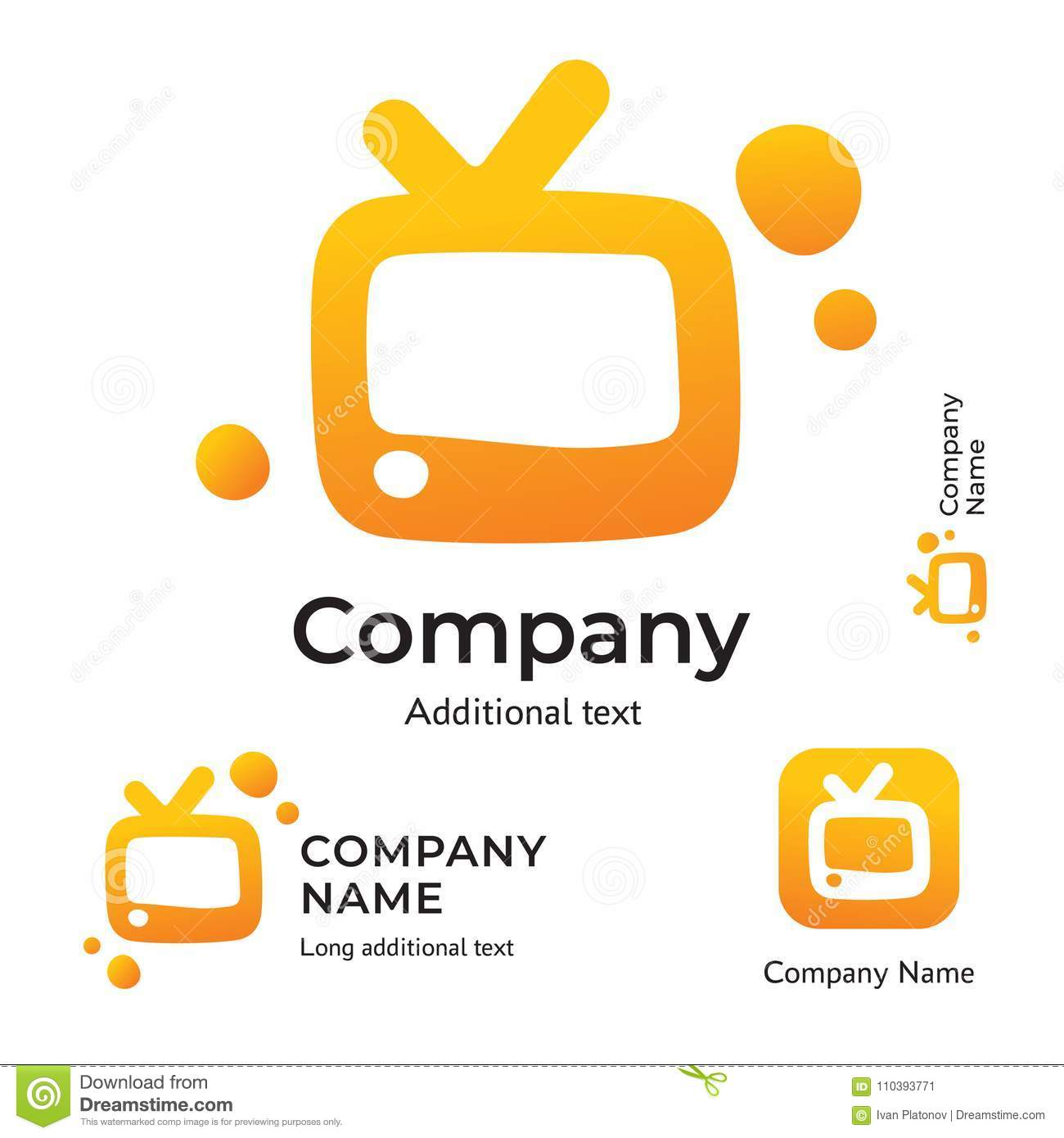 TV Logo Modern Identity For Television Brand And App Icon Company