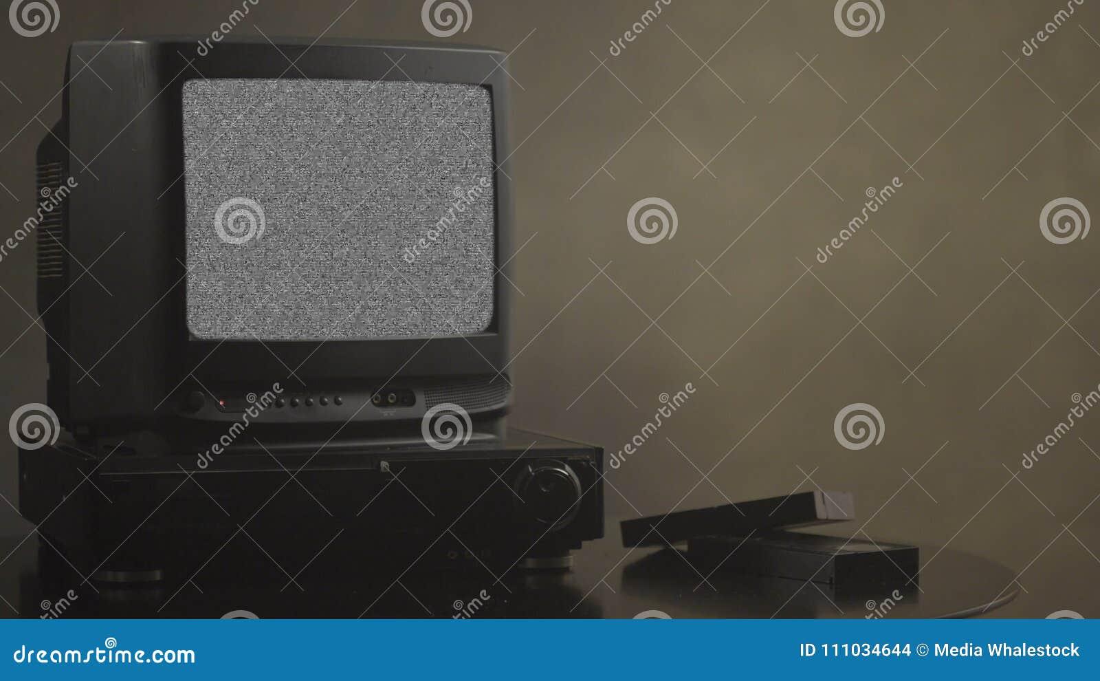 TV med oväsen TVprovkort Retro maskinvara 1980 Statiskt fel för tekniskt felkonstshow, bruten överföring Oväsentvskärm
