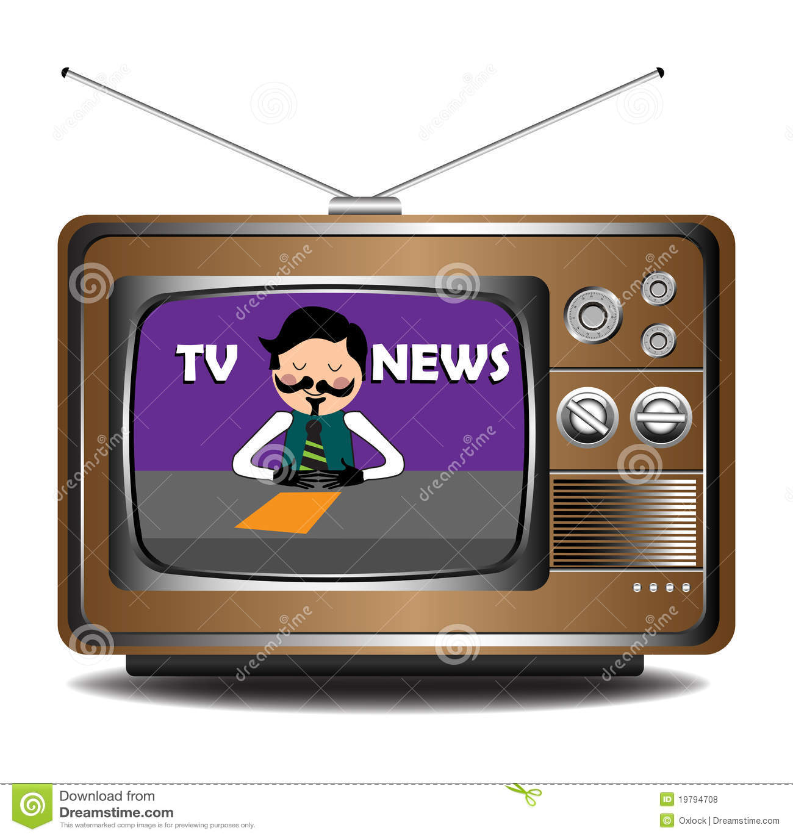 Download TV News Stock Vector Illustration Of Multimedia Mustache