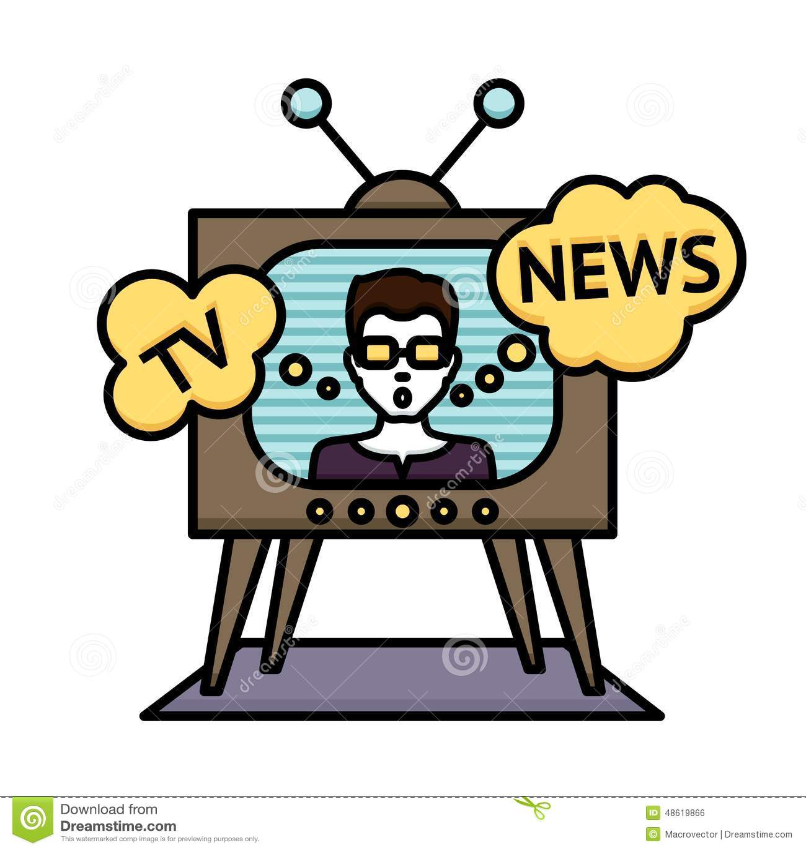 tv news poster stock vector image 48619866 journalist clipart journalist clipart