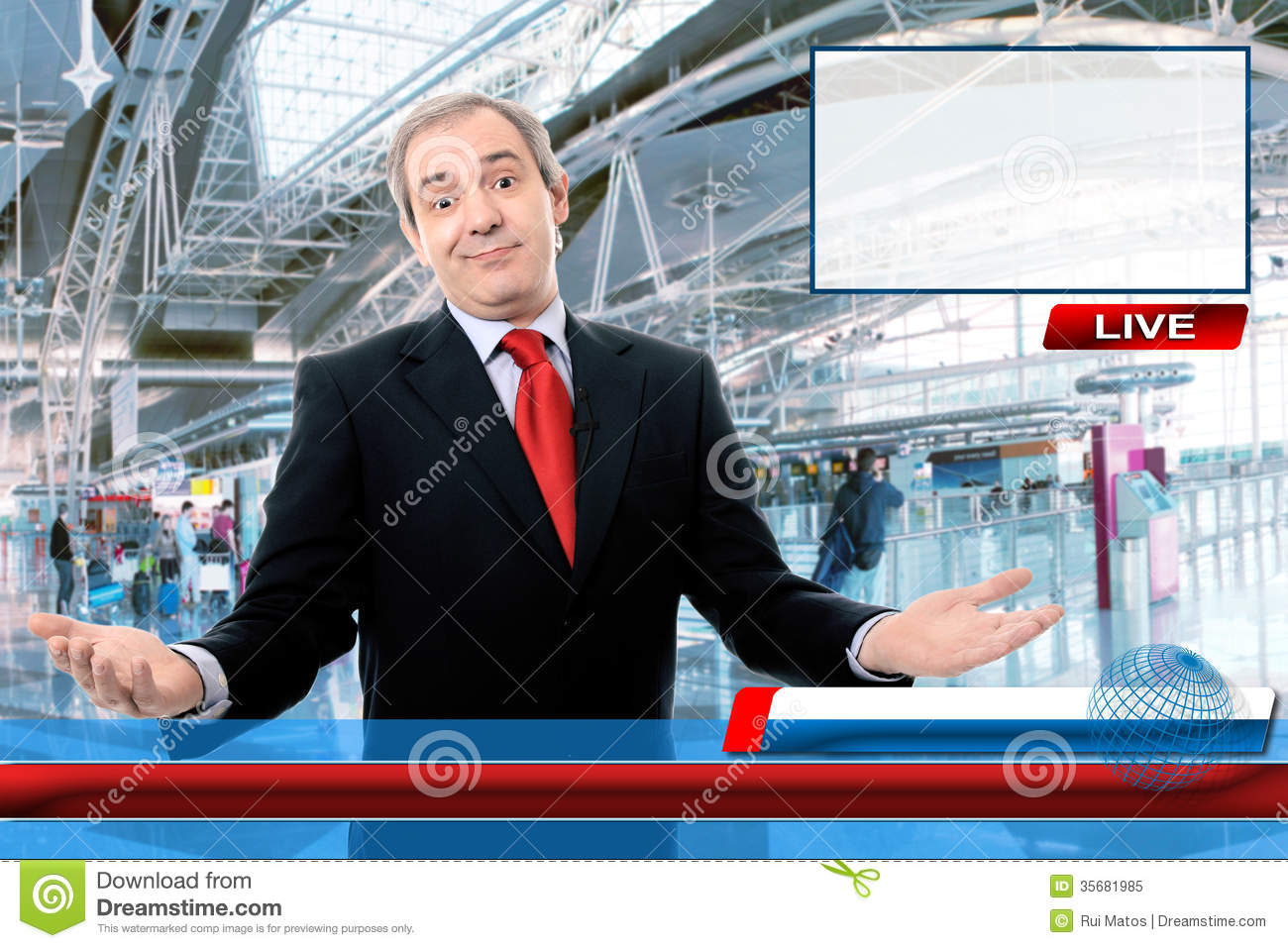 Tv News Reporter Stock Image Image Of Broadcast