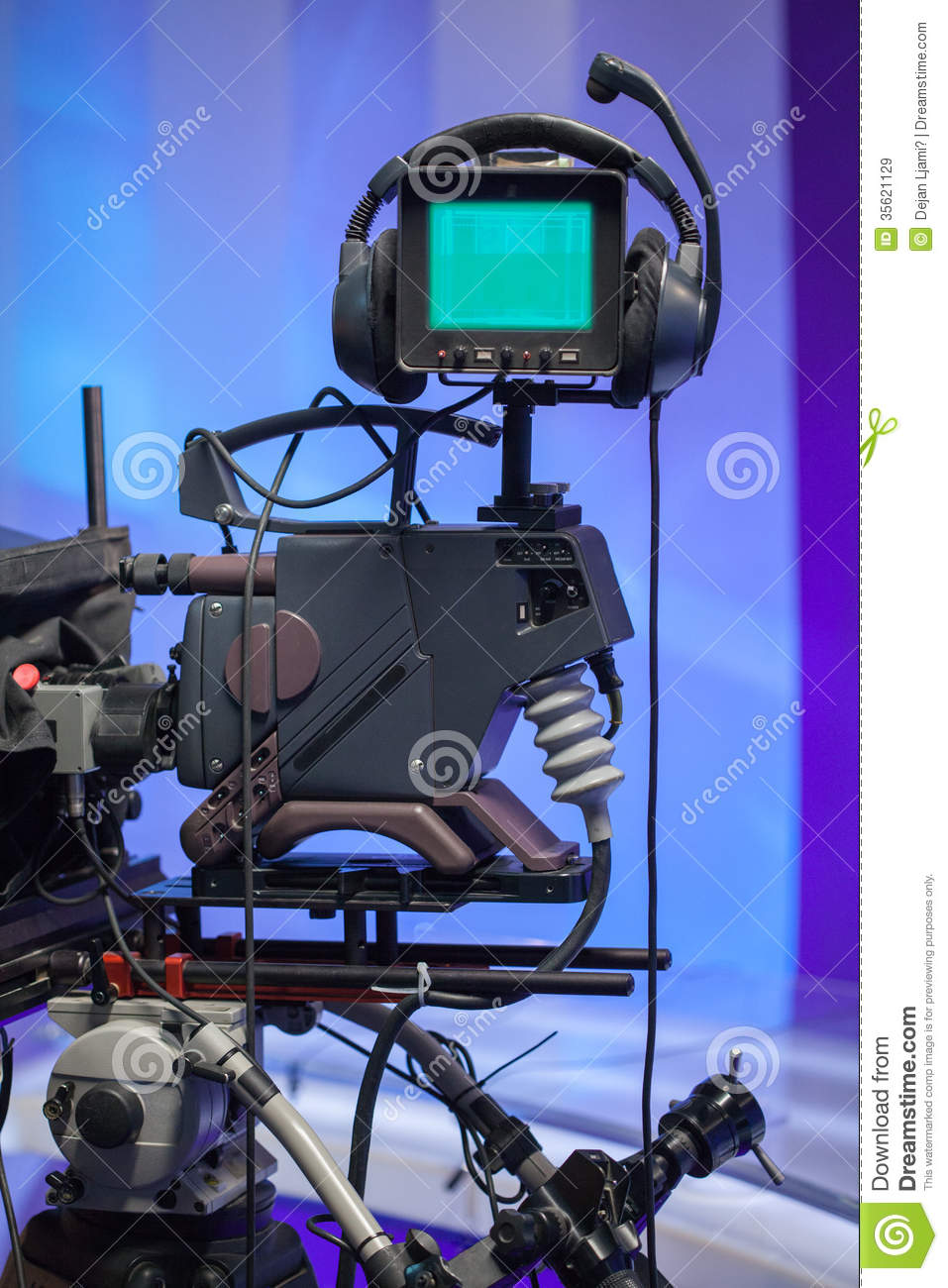 Tv news studio with camera stock image image of - Tv in camera ...