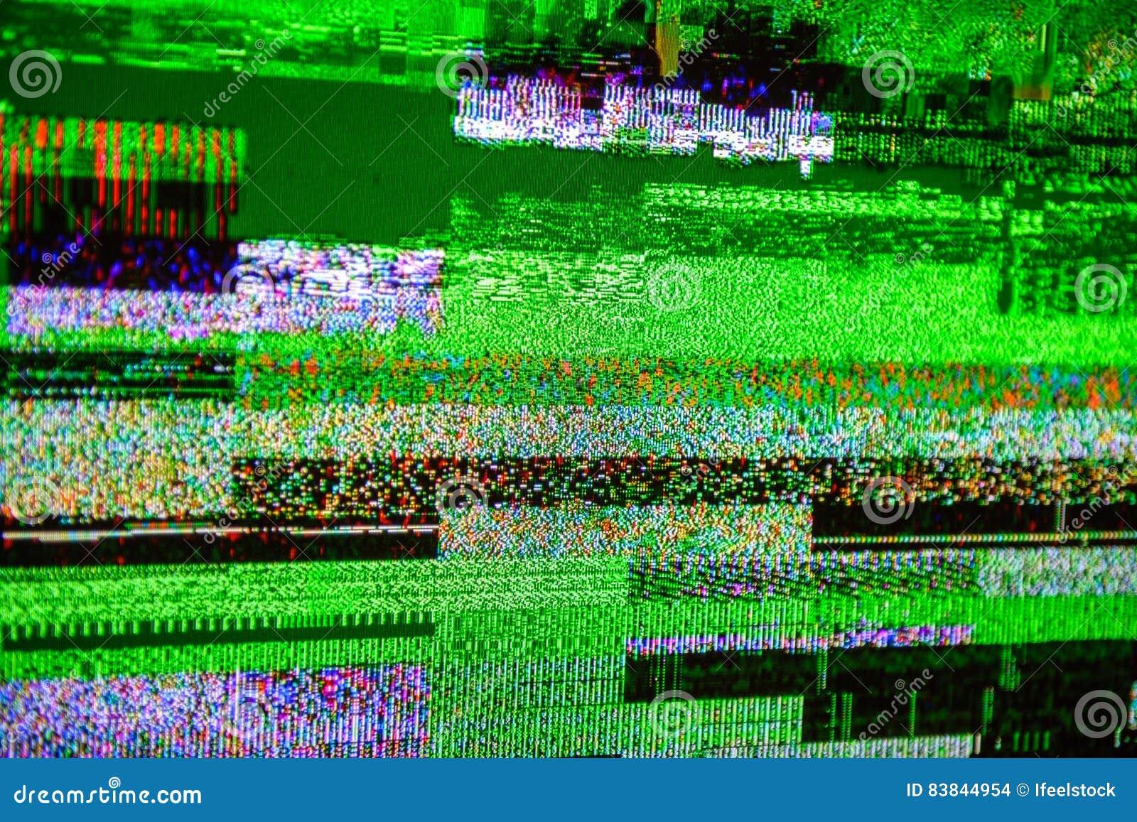 TV Noise Bad Signal Dbvt Signal Digital Video Broadcasting Stock