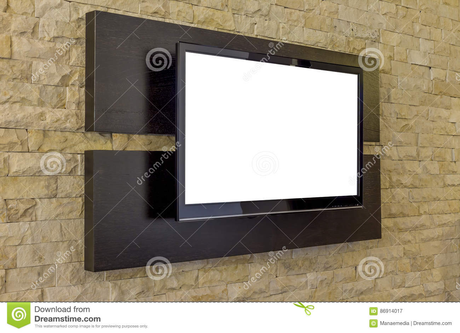 Tv In Muur : Tv op bakstenen muur stock afbeelding afbeelding bestaande uit