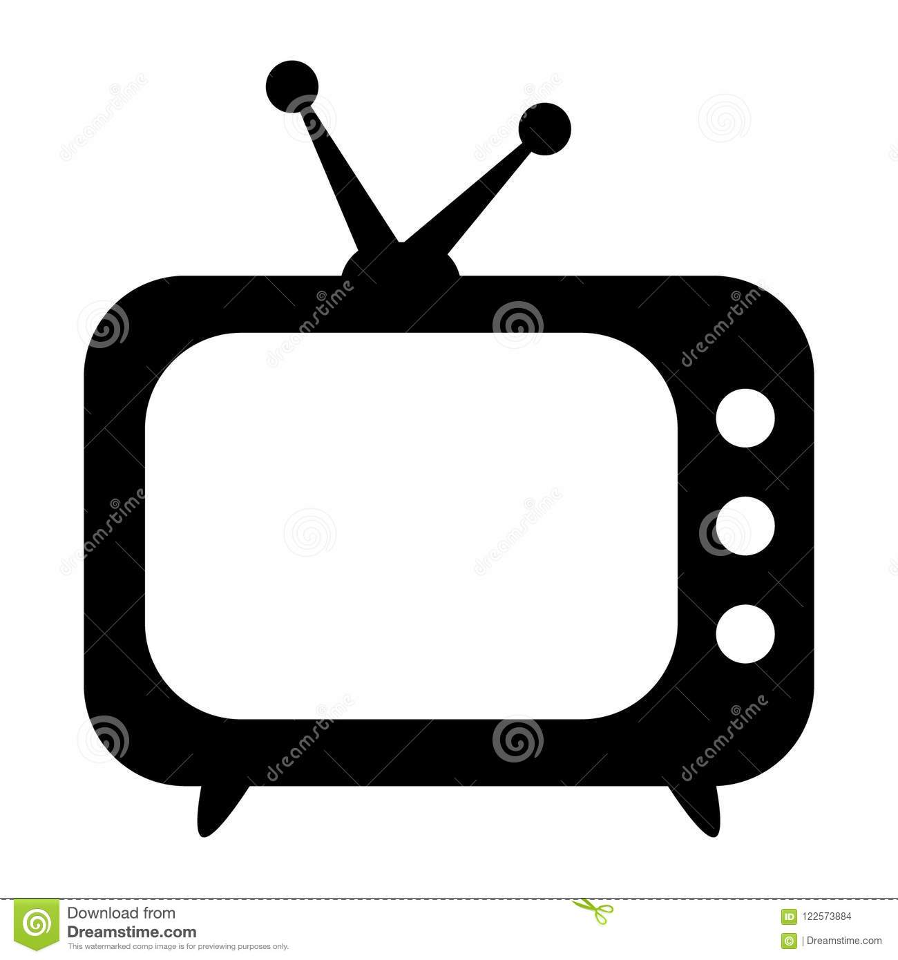 TV-pictogram, retro TV