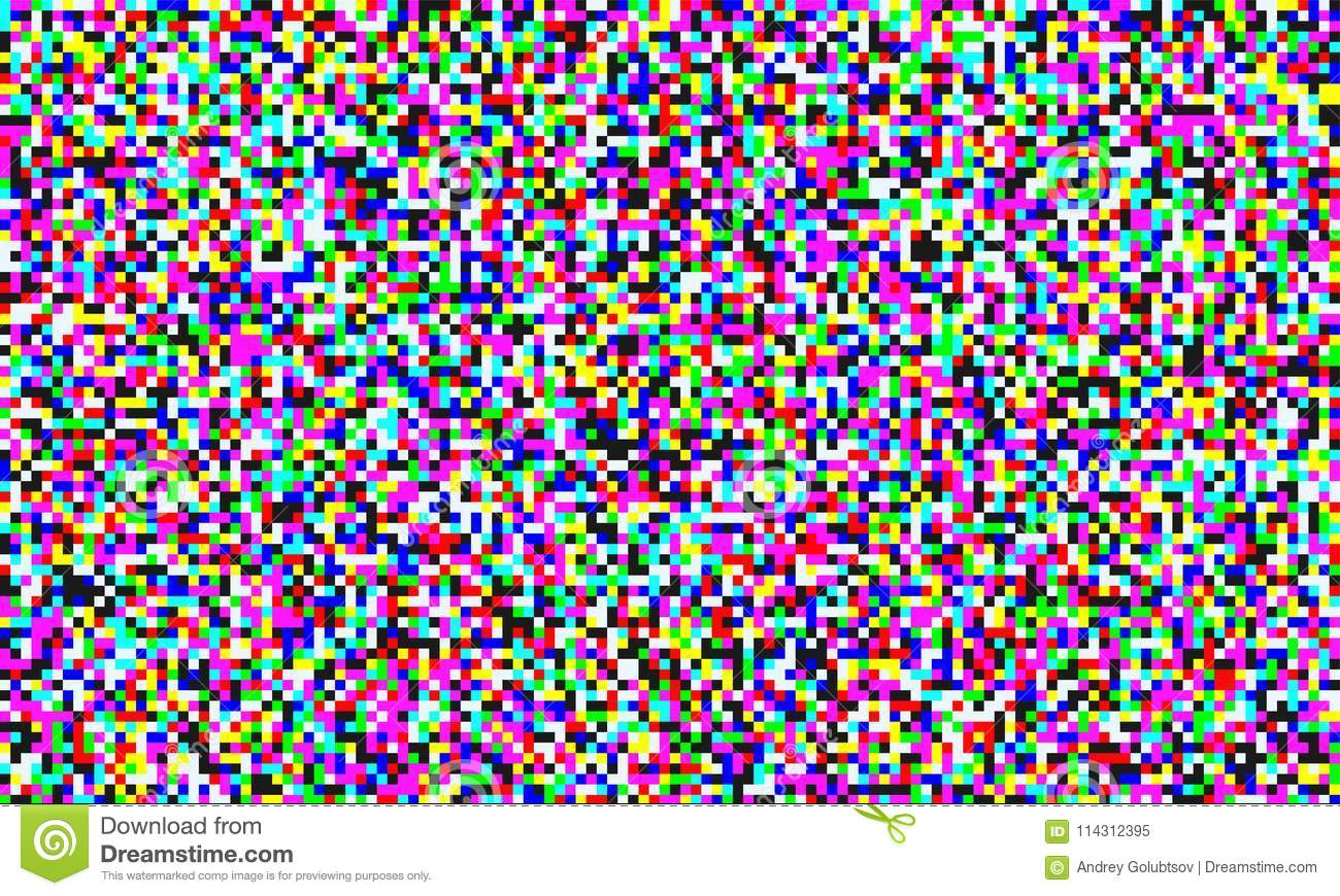 TV Pixel Noise Of Analog Channel Grain Screen Seamless Background