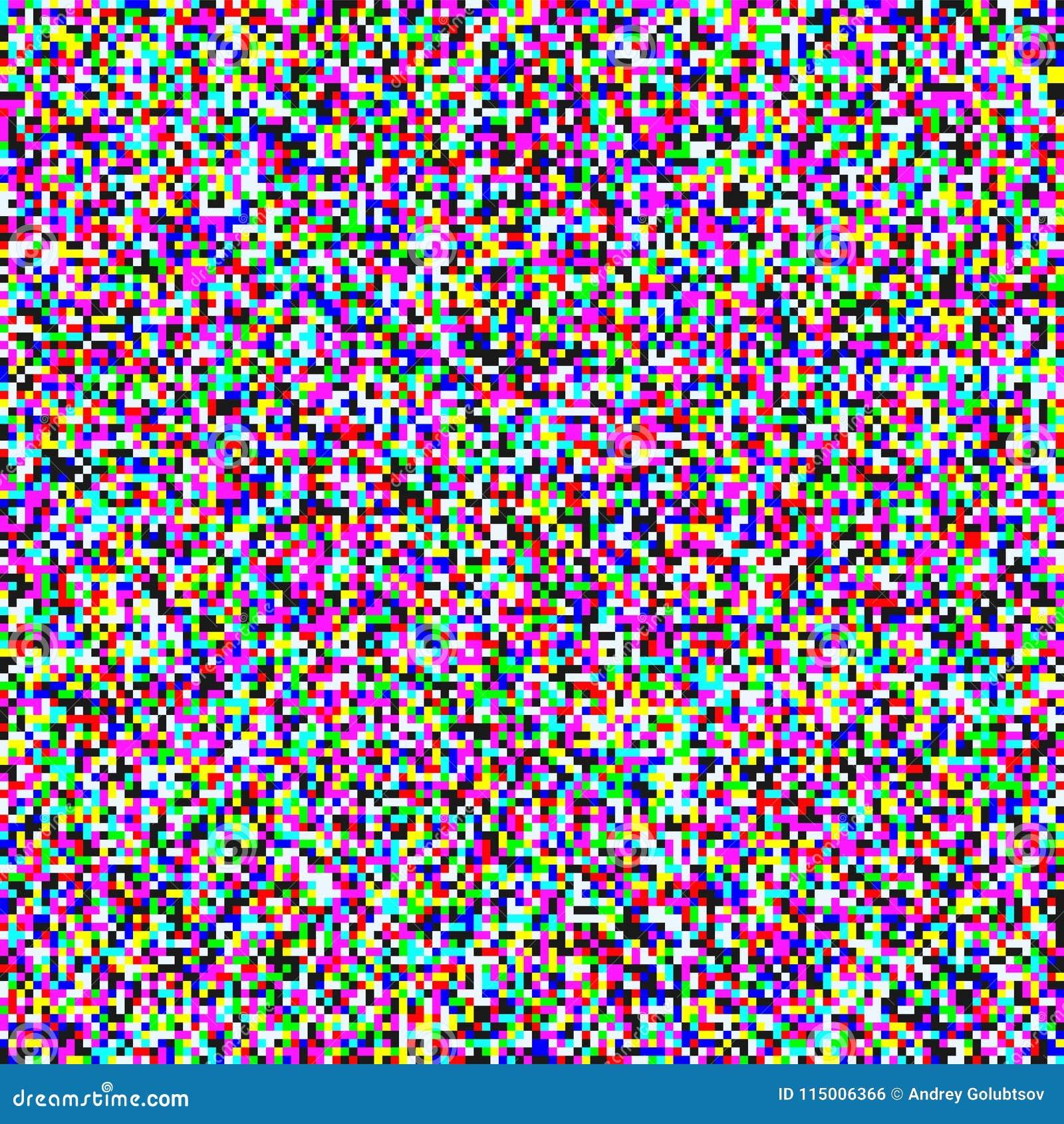 TV Pixel Noise Grain Screen Vector Background Stock Vector