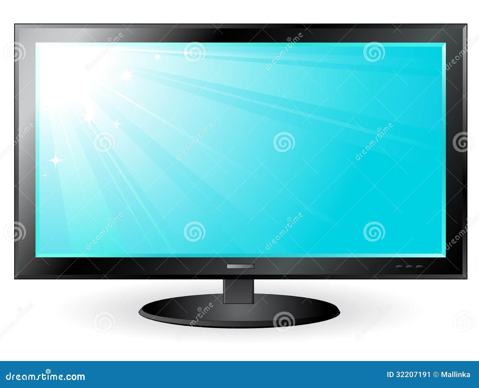 Tv Plasma Screen With Sun And Sky Stock Image Image