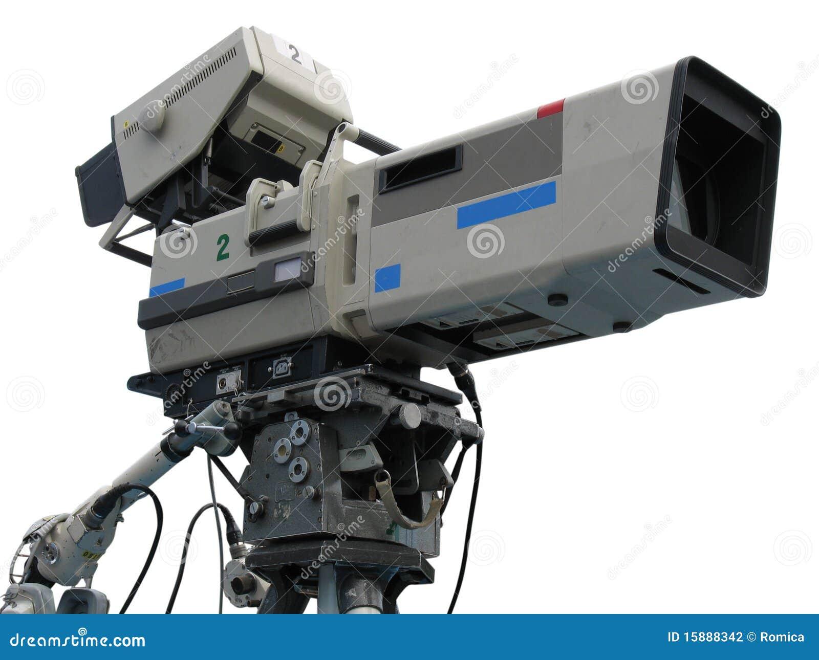 Tv professional studio digital video camera stock - Tv in camera ...