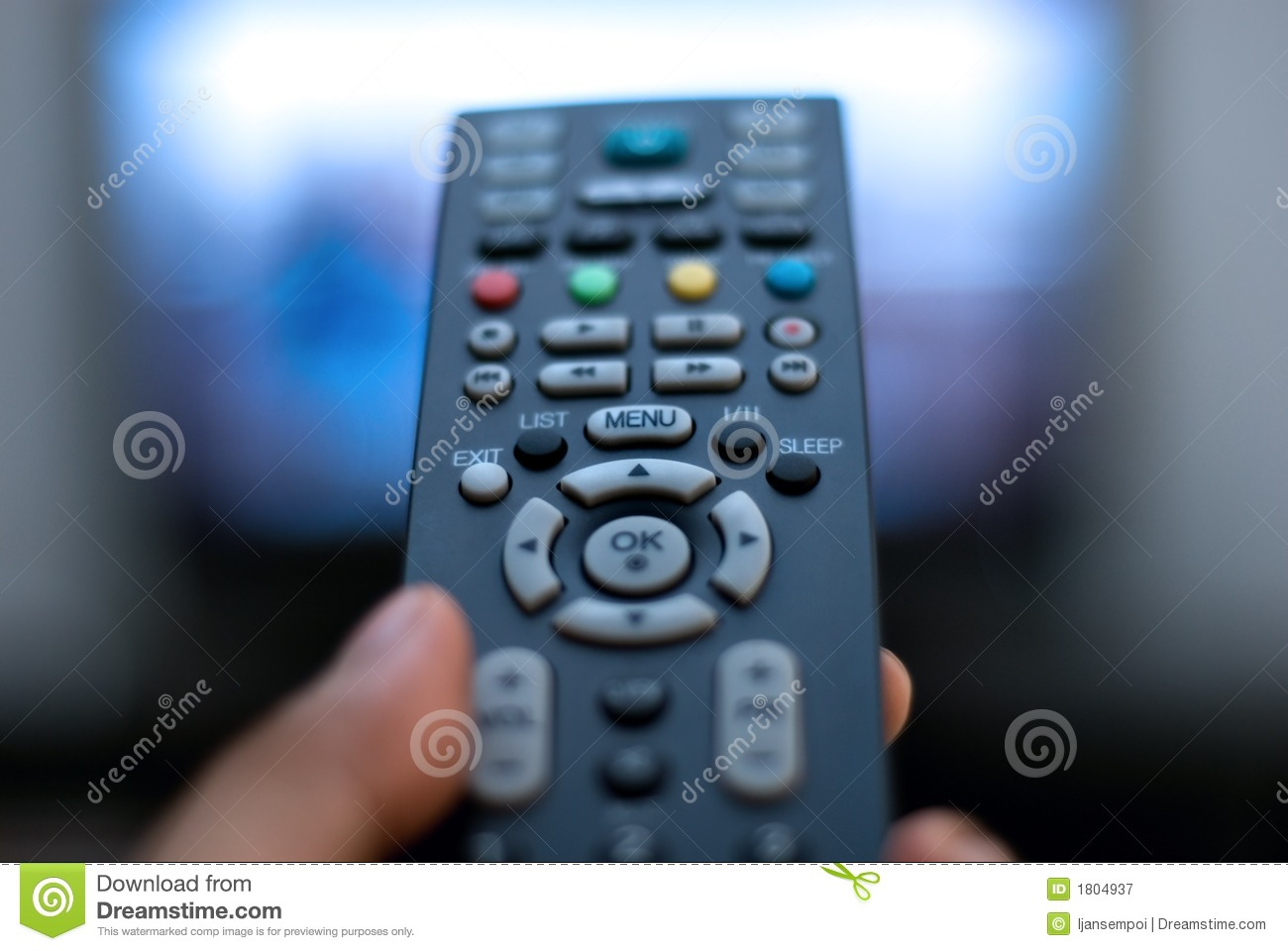 TV remote control stock image  Image of manage, black - 1804937