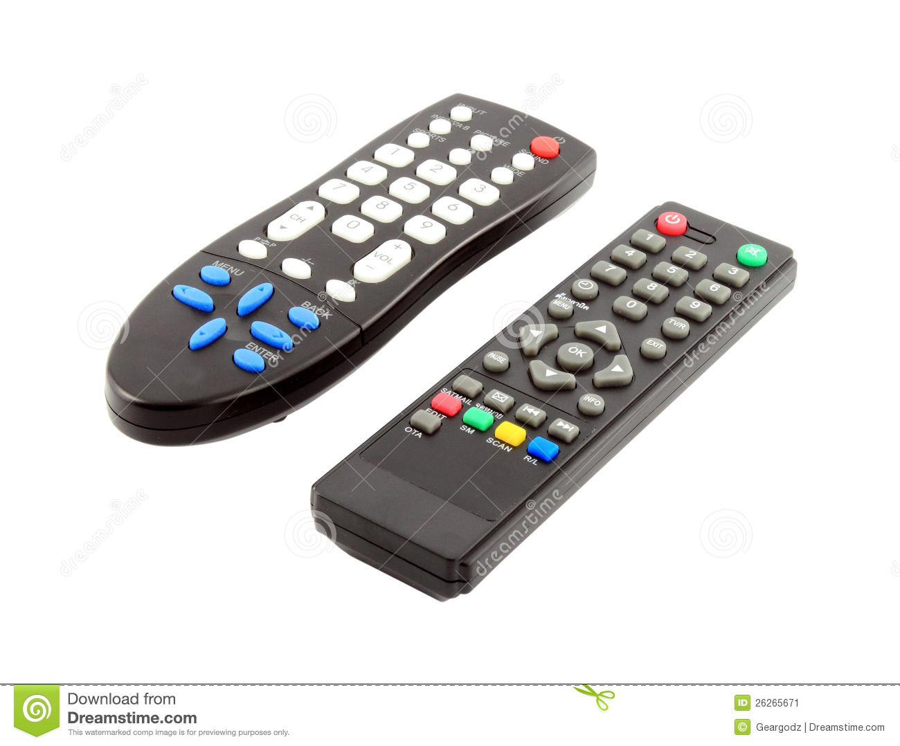 Similiar TV Remote Graphics Keywords