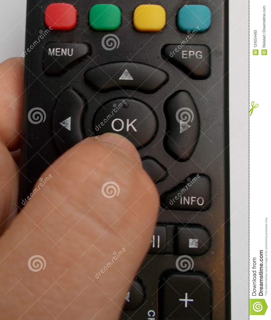 TV remote control stock image  Image of television