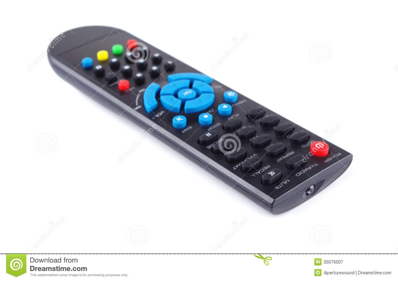 TV remote control stock image  Image of channels, connection