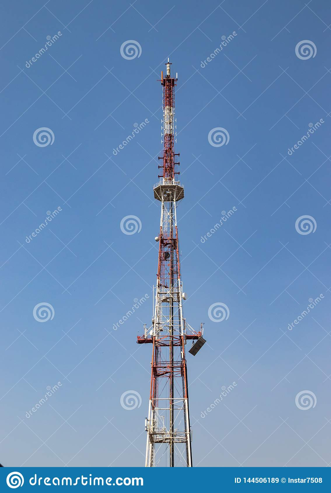 TV Repeater, Mast For Broadcast TV Signal Stock Image