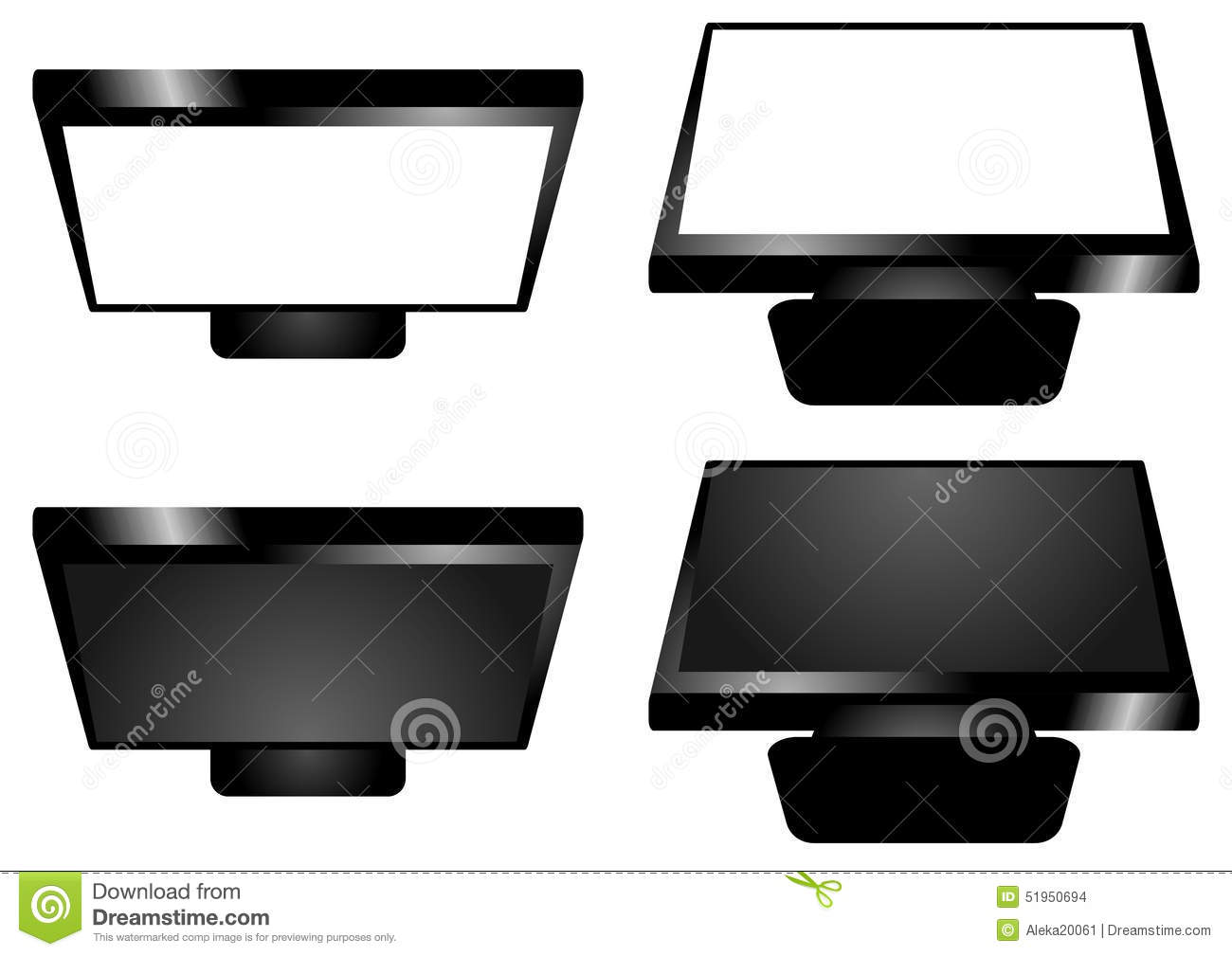 The Tv Screen Top And Bottom View Stock Photo Image Of Network