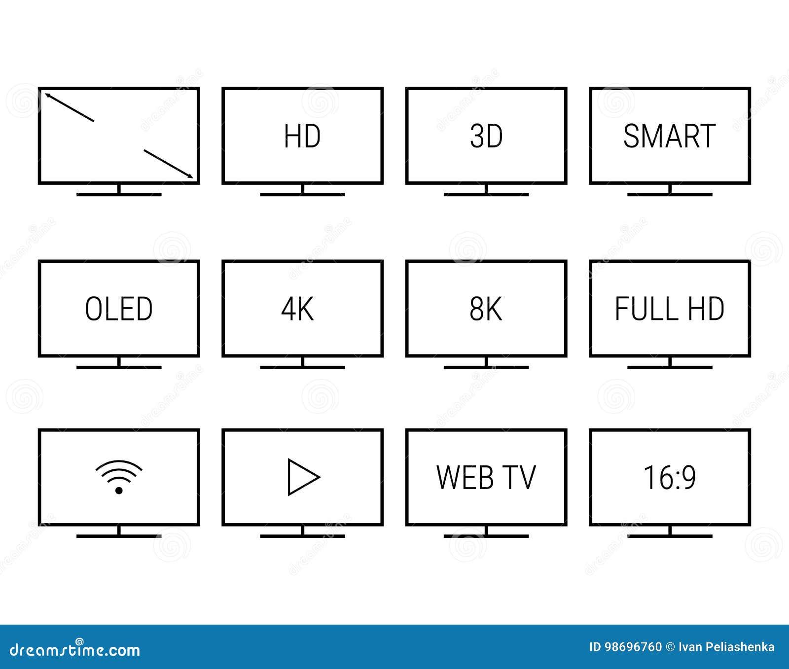 Tv Screens Signs Stock Illustration Illustration Of Symbol 98696760