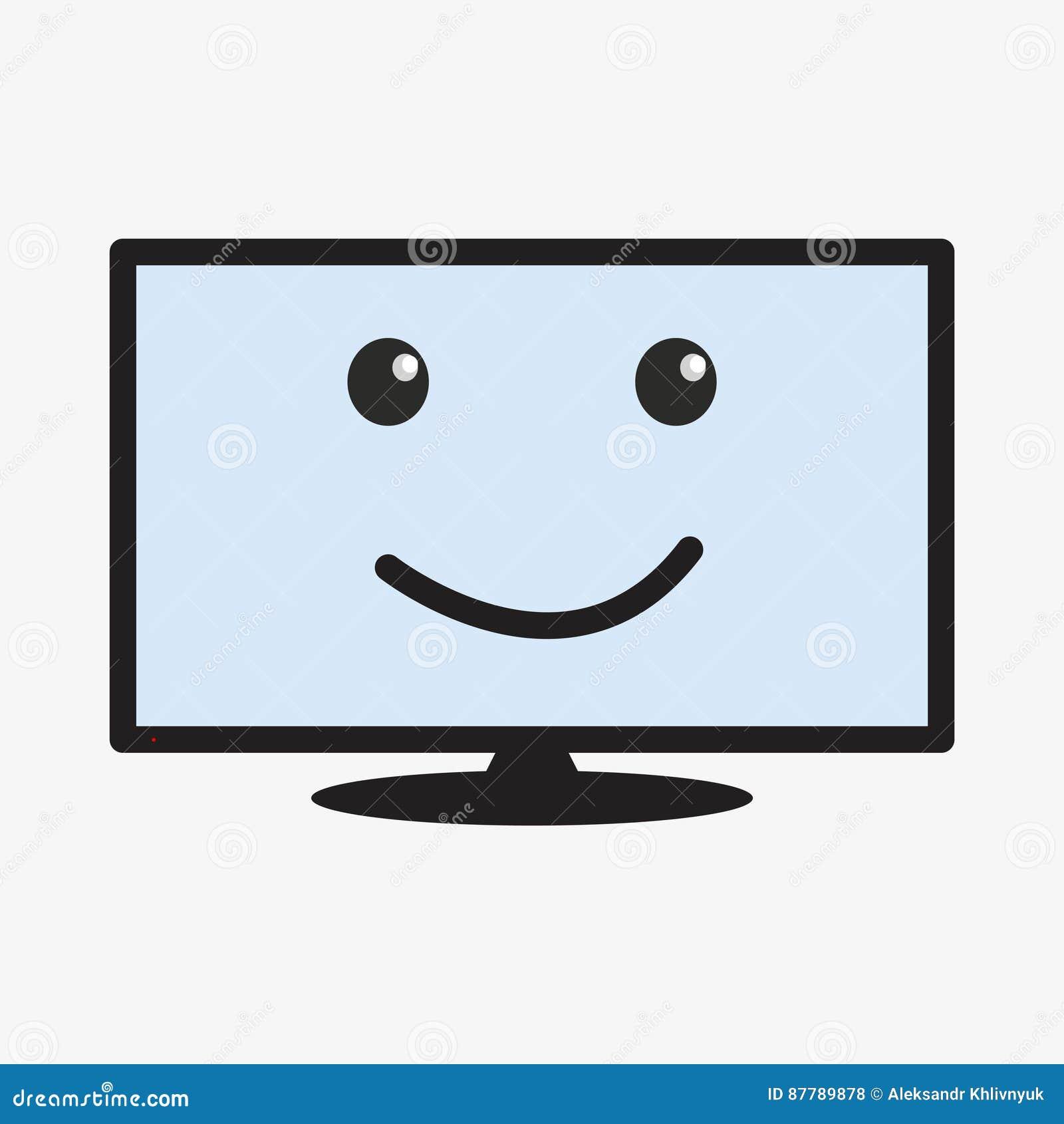 Tv Set Cartoon Character Stock Illustration Illustration Of Happy