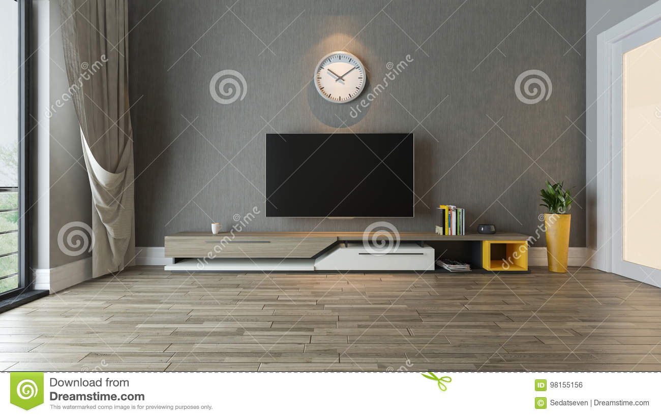 Tv Stand In The Living Room Decor Idea Stock Illustration Illustration Of Body Indoors 98155156