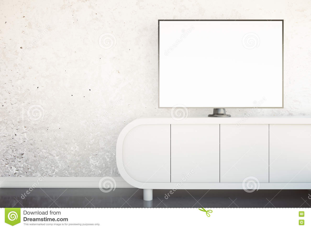 TV stand with monitor