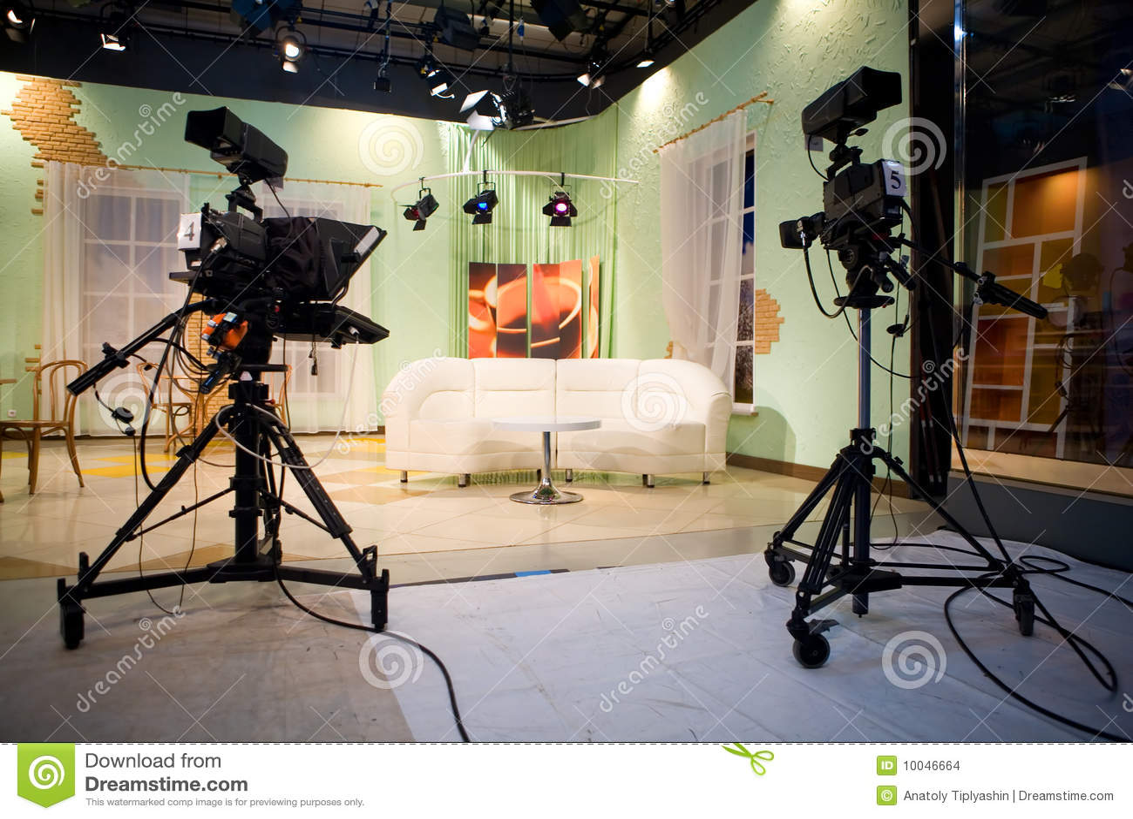 Tv Studio Stock Images Image 10046664
