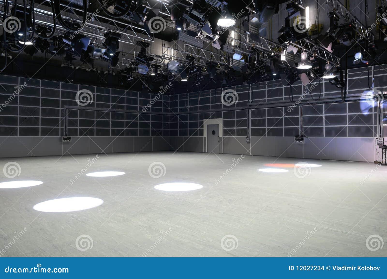 Tv Studio Lighting Stock Images Image 12027234